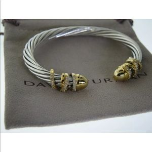 DAVID YURMAN 6MM GOLD DOME 18K& SILVER BRACELET